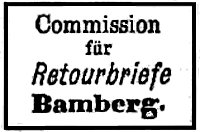 Verschlussmarke Commission Retourbriefe